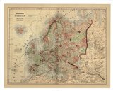 Antique Map of Europe Art Print