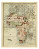 Antique Map of Africa Art Print