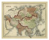 Antique Map of Asia Art Print