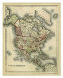 Antique Map of North America Art Print