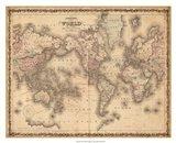 Johnson's Map of the World Art Print