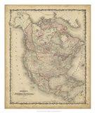 Johnson's Map of North America Art Print