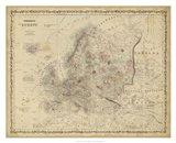 Johnson's Map of Europe Art Print