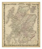 Johnson's Map of Scotland Art Print