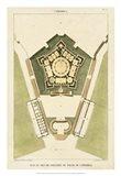 Plan du Rez De Chaussee du Palais Art Print