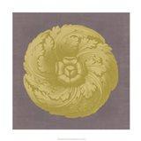 Gilded Rosette II Art Print