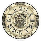 Antique Floral Clock Art Print