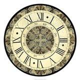 Vintage Motif Clock Art Print