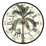 Antique Palm Clock Art Print