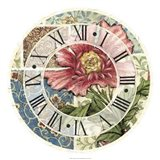 Cottage Rose Clock Art Print