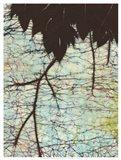 Batik Hanging Leaves II Art Print