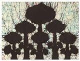 Batik Hedges II Art Print