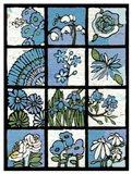 Asure Botanical I 12-Patch Art Print