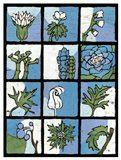 Asure Botanical II 12-Patch Art Print