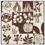 Brown Botanical 16-Patch Art Print