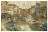 Burano Canal I Art Print
