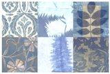 Blue Textures I Art Print