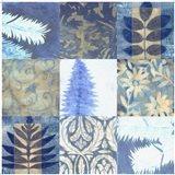 Blue Textures 9 - Patch Art Print