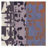 Alphabet Overlay I Art Print