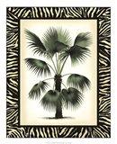 Palm in Zebra Border II Art Print