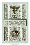 Panel in Celadon II Art Print