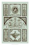 Panel in Celadon III Art Print