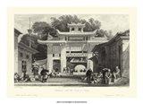 Scenes in China V Art Print