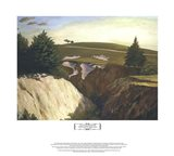 Sun Setting Behind the 18th at Pasatiempo Art Print