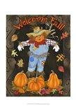 Fall Scarecrow I Art Print