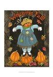 Fall Scarecrow II Art Print