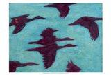 Flying Silhouettes II Art Print