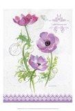 Flower Study on Lace I Art Print