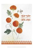 Flower Study on Lace IV Art Print