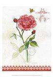 Flower Study on Lace XIII Art Print