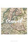 Map Words IV Art Print
