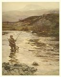 Trout Fishing Art Print