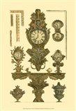 Antique Decorative Clock I Art Print