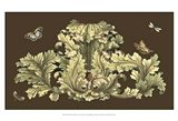 Small Nature's Splendor On Chocolate I Art Print