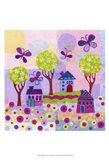 Springtime Houses Art Print