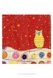 Feathers, Dots & Stripes I Art Print
