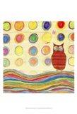Feathers, Dots & Stripes IV Art Print