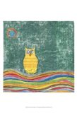 Feathers, Dots & Stripes V Art Print