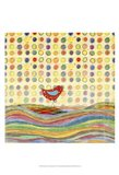 Feathers, Dots & Stripes VII Art Print