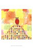 Feathers, Dots & Stripes XI Art Print