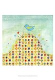 Feathers, Dots & Stripes XIII Art Print