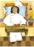 Jolly Mexican Chef Art Print