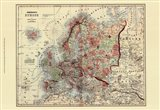 Small Antique Map of Europe (P) Art Print