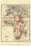 Small Antique Map of Africa (P) Art Print