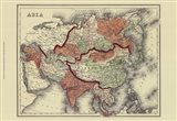 Small Antique Map of Asia (P) Art Print