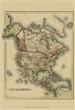 Small Antique Map of N. America (P) Art Print